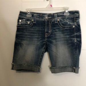 Miss me Bermuda jean shorts size 29